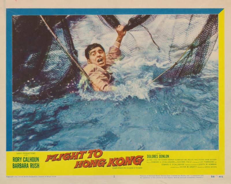 Flight to Hong Kong (1956) USA Lobby Card NSS 56-481 #05