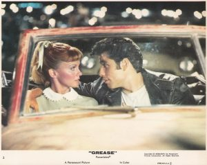 A vintage, original colour lobby card from Grease (1978)