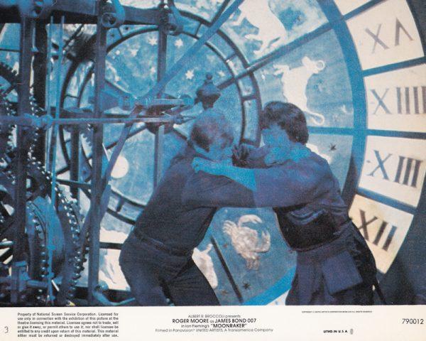 An original James Bond 007 Moonraker lobby card, from 1979