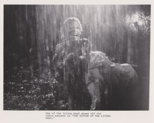 An original press kit photograph from Return of the Living Dead (1985)