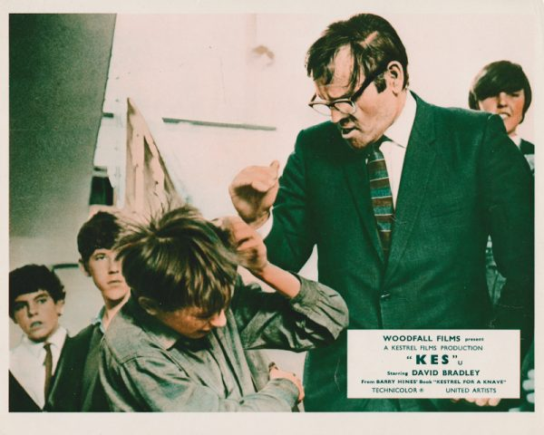 David Bradley gets a clip 'round the ear from his teacher