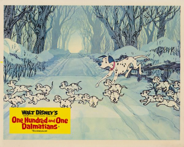 One Hundred and One Dalmatians (1961) UK Front of House Card B