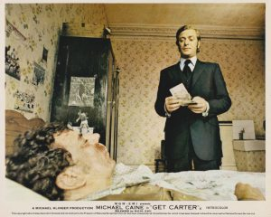 Carter (Michael Caine) with Cliff Brumby (Bryan Mosley)