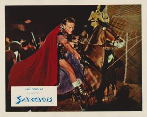 Kirk Douglas in a scene from Spartacus