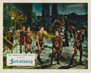 Kirk Douglas and Tony Curtis in a scene from Spartacus (1960)