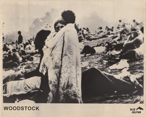 Festivalgoers at Woodstock (1970)