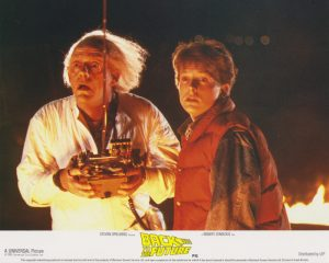 Back to the Future (1985) UK Front of House Lobby Card A