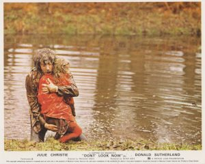 Donald Sutherland attempts to rescue the girl from a lake