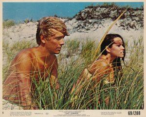 "Bruce Davison and Barbara Hershey in a scene from ""Last Summer"" (1969)"