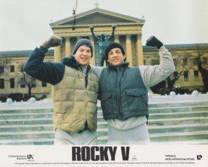 Rocky V (1990) UK Front of House Card A