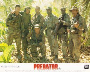 The full platoon from Predator (1987)