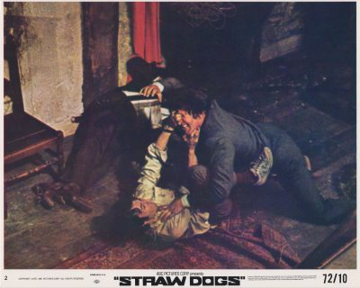 A fight scene from Peckinpah's controversial Straw Dogs (1971)