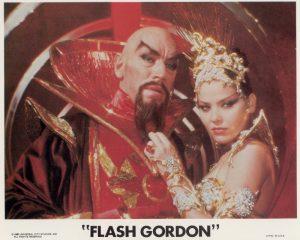Max von Sydow (Ming) alongside Ornella Muti (Princess Aura)
