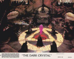 A vintage colour lobby card from The Dark Crystal (1982)