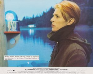 A vintage UK front of house lobby card featuring David Bowie